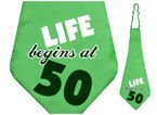 "Krawat ""50 Life Begins at ..."" 59cm"