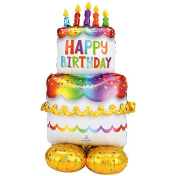 "Balon AirLoonz 50"" Tort ""Happy Birthday"""