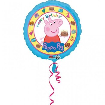 "Balon Foliowy 18"" Świnka Peppa - Happy Birthday"