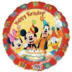 "Balon foliowy 18"" Mickey Mouse & Friends - Happy Birthday"