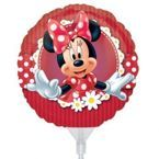 "Balon foliowy 9"" na patyczku - Mad About Minnie Mouse"