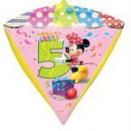 "Balon foliowy DIAMONDZ Minnie Mouse cyfra ""5"""