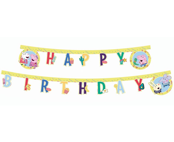 Świnka Peppa - Baner Happy Birthday 2m
