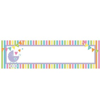 Welcome New Baby - Baner personalizowany 1,6m + 120 naklejek
