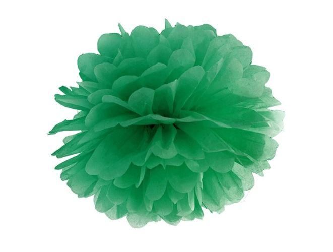Pompon Bibułowy 35cm Zielony Ciemny święta I Okazje