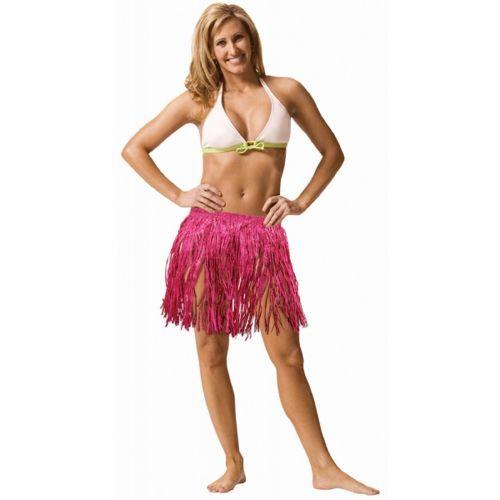 Hawajska spódnica krótka M różowa